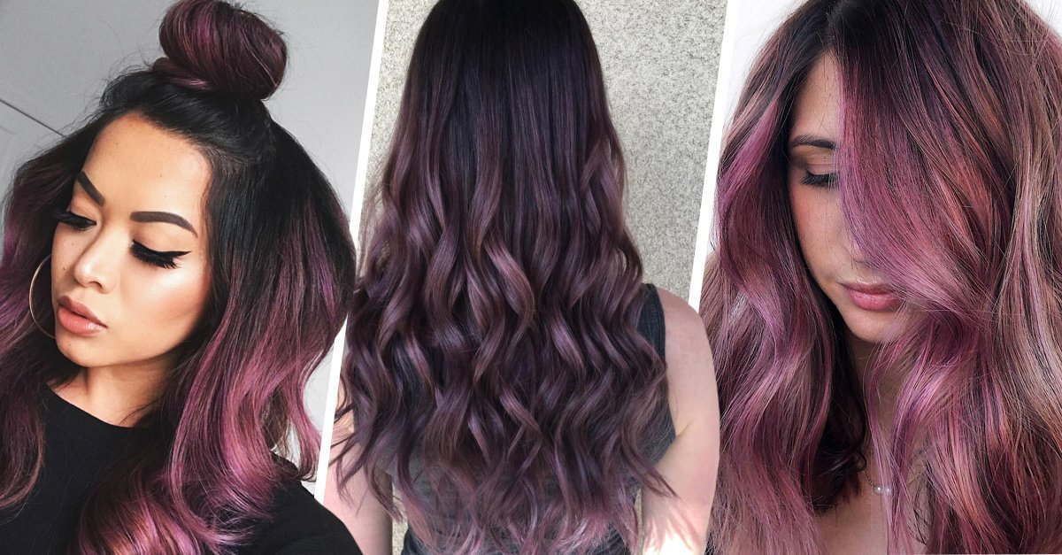 Chicas con cabello color chocolate