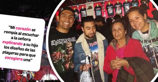 Una madre llevó a su hijo ciego al concierto de Iron Maiden en México
