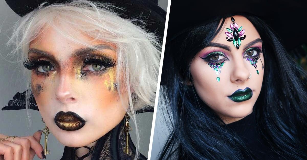 15 Ideas de maquillaje de brujas para celebrar Halloween
