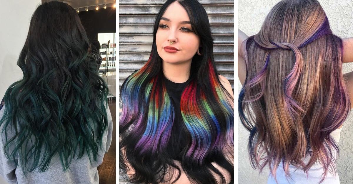 15 Ideas para añadir mechas de colores a tu look