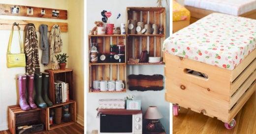 14 Ideas de decoración con rejas de madera