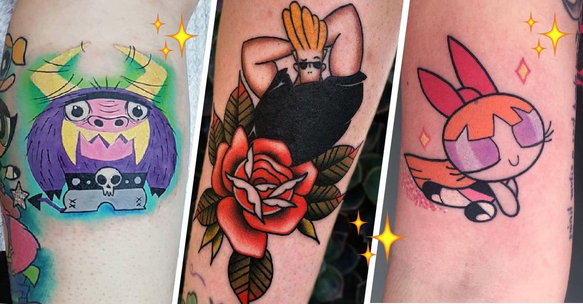 21 Diseños de tatuajes para homenajear a tus caricaturas favoritas de Cartoon Network