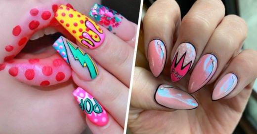 15 Diseños de uñas pop art que te harán sentir como si trajeras arte en las manos