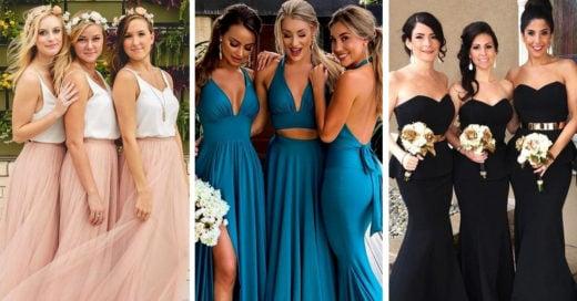 Opciones de vestido para las damas de honor que debes sugerir a la novia