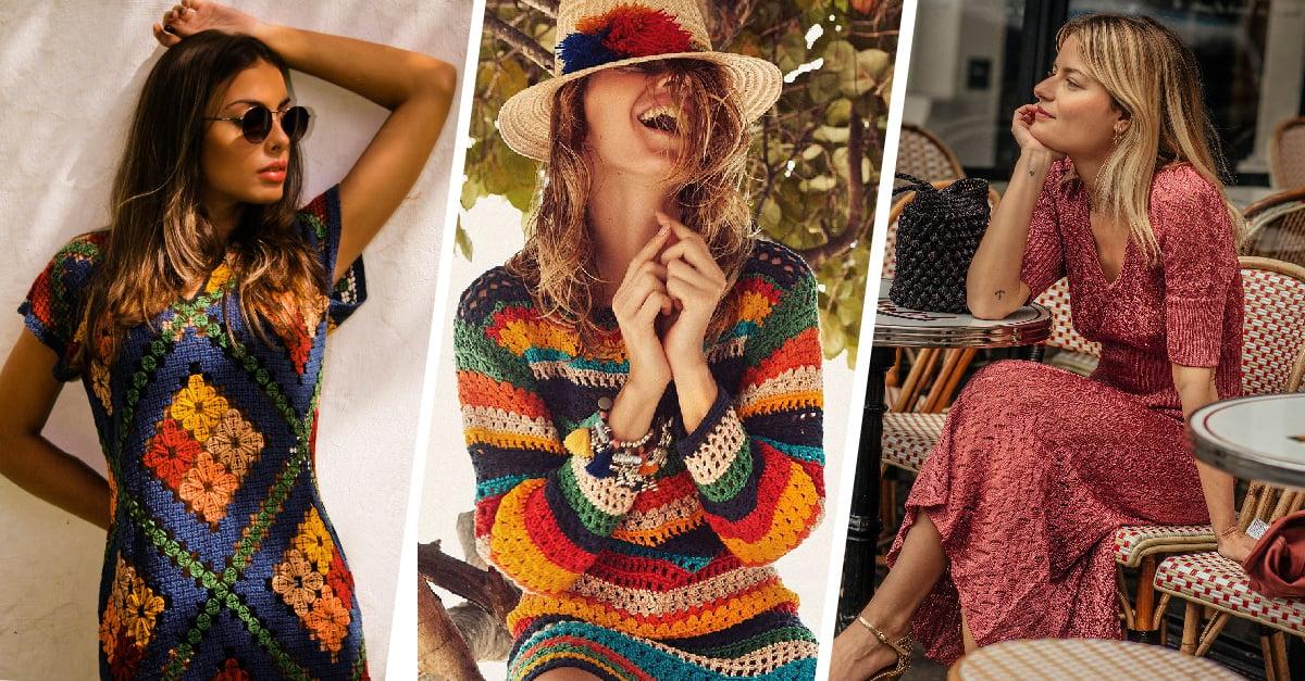 15 Modernos y bonitos vestidos tejidos que hasta tu abuelita querrá usar