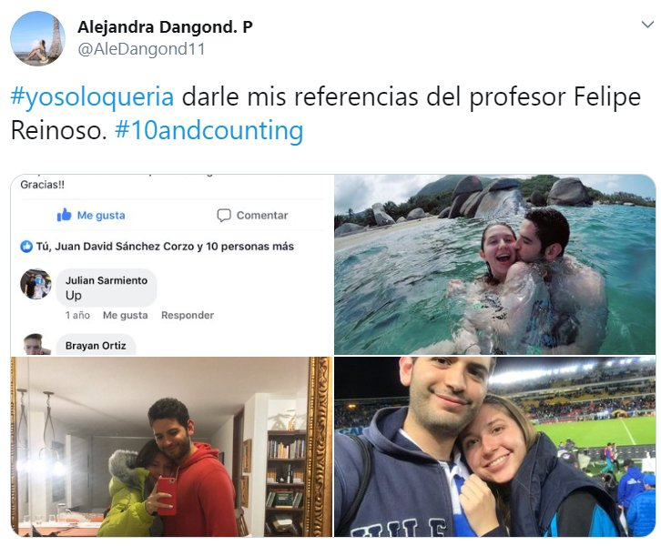 Historia en Twitter con el hastag Yo solo quería, de parejas que se conocieron de manera inusual
