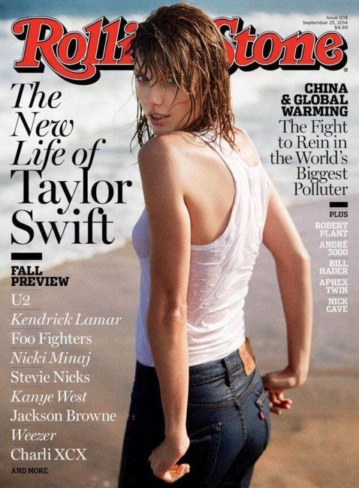 Taylor Swift en la portada de la revista Rolling stone