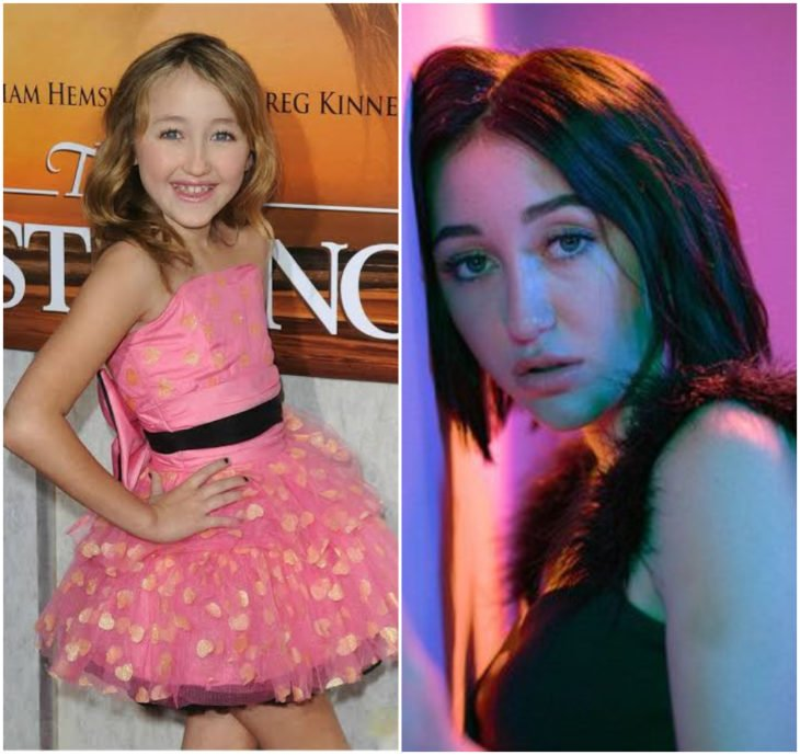Noah Cyrus 10 anos antes e depois