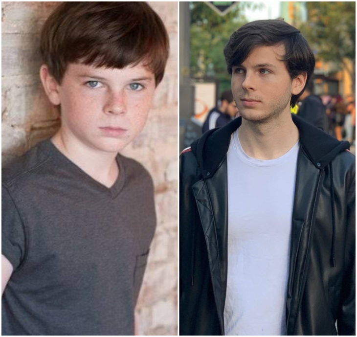 Chandler Riggs 10 anos antes e depois