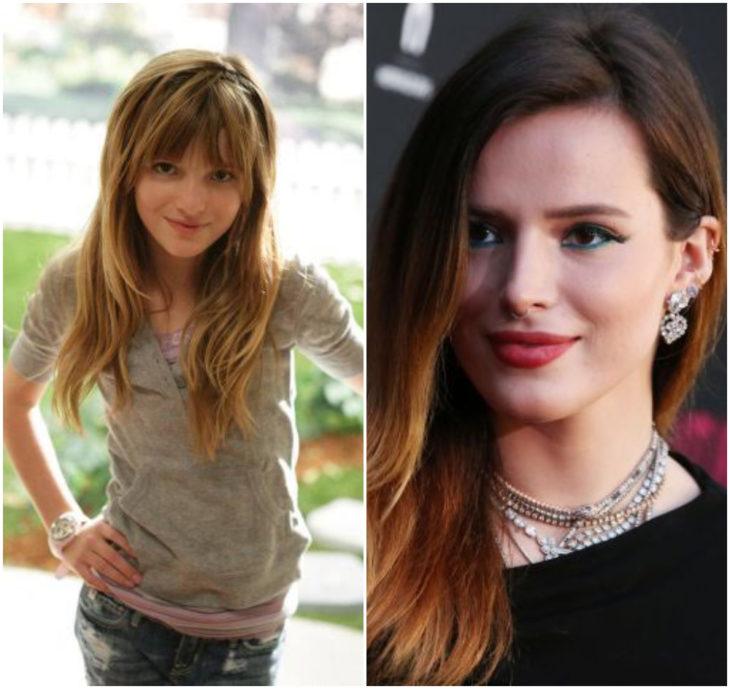 Bella Thorne 10 anos antes e depois