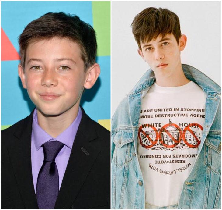 Griffin Gluck 10 anos antes e depois