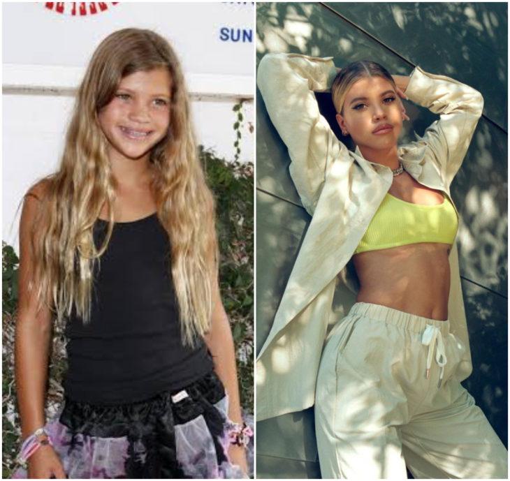 Sofia Richie 10 anos antes e depois