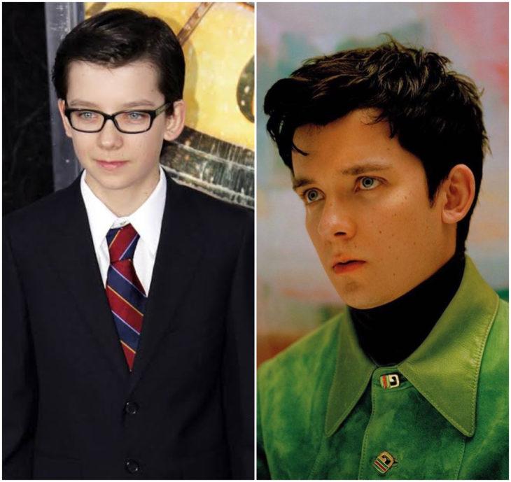 Asa Butterfield 10 anos antes e depois