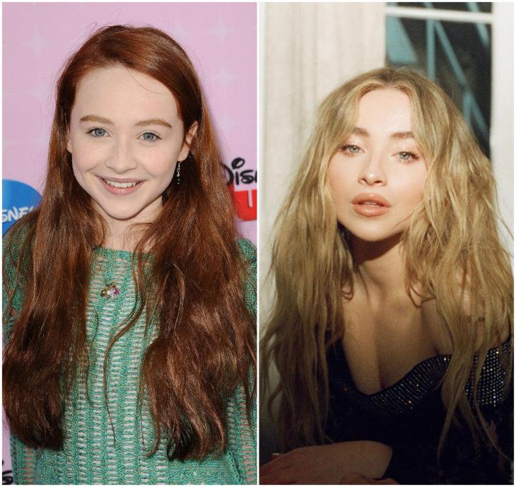 Sabrina Carpenter 10 anos antes e depois