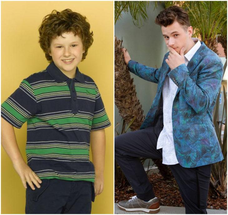 Nolan Gould 10 anos antes e depois
