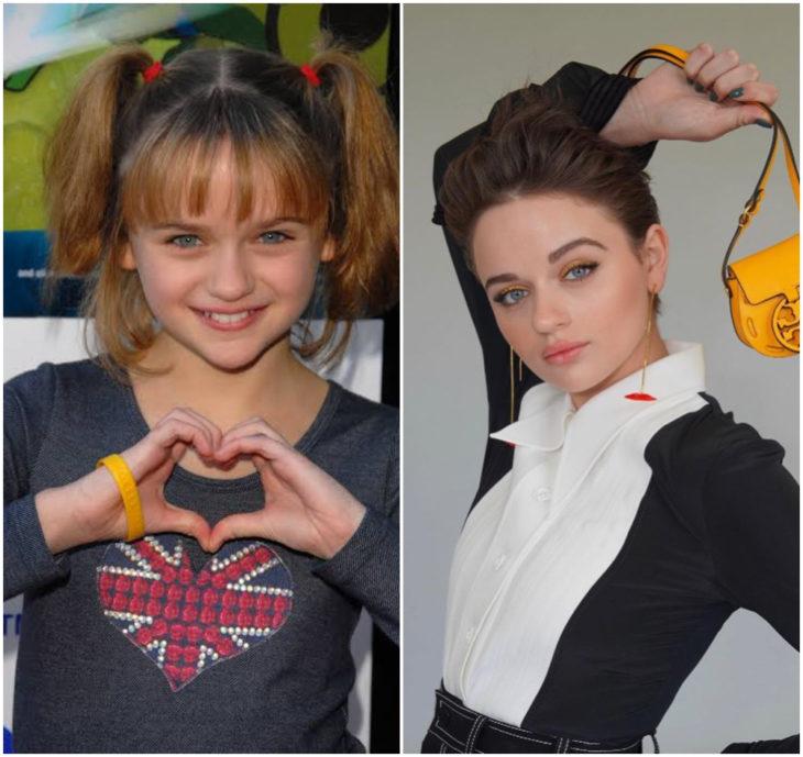 Joey King 10 anos antes e depois