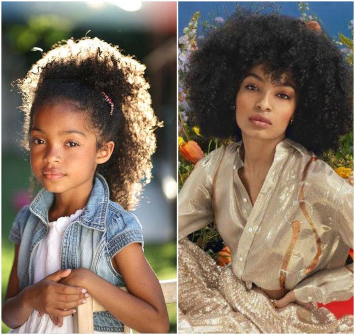 Yara Shahidi 10 anos antes e depois