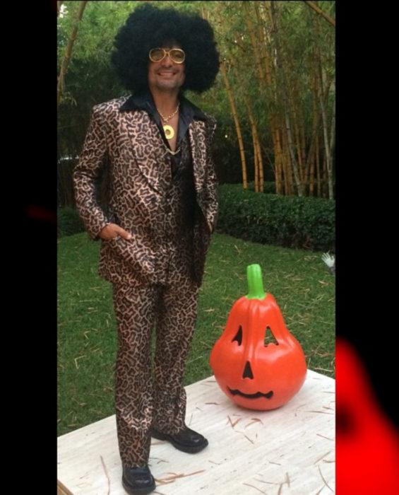 Chayanne disfrazado para Halloween