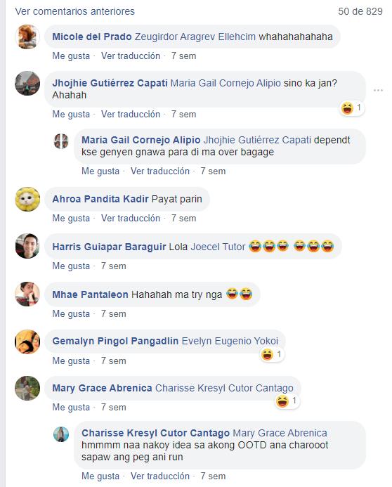 Comentarios en redes sociales que apoyan a chica que viajó con exceso de equipaje