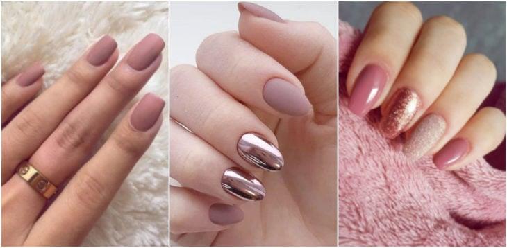 Chicas mostrando sus manos con manicura en tono rosa millennial