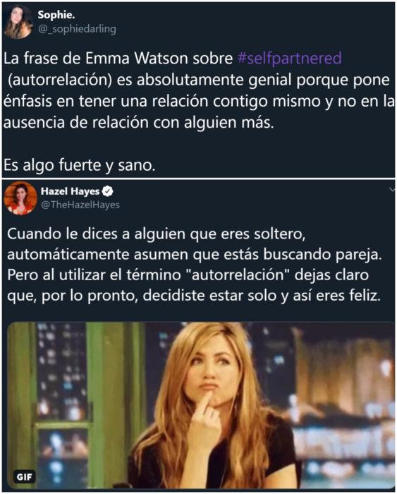 Emma Watson habla sobre tener una relación con ella misma o autorrelación