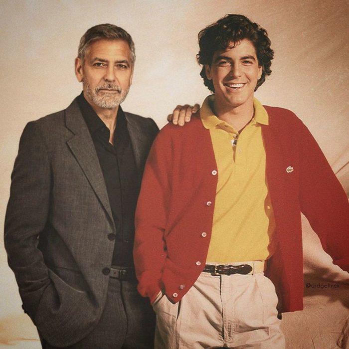 George Clooney de joven y adulto por Ard Gelinck