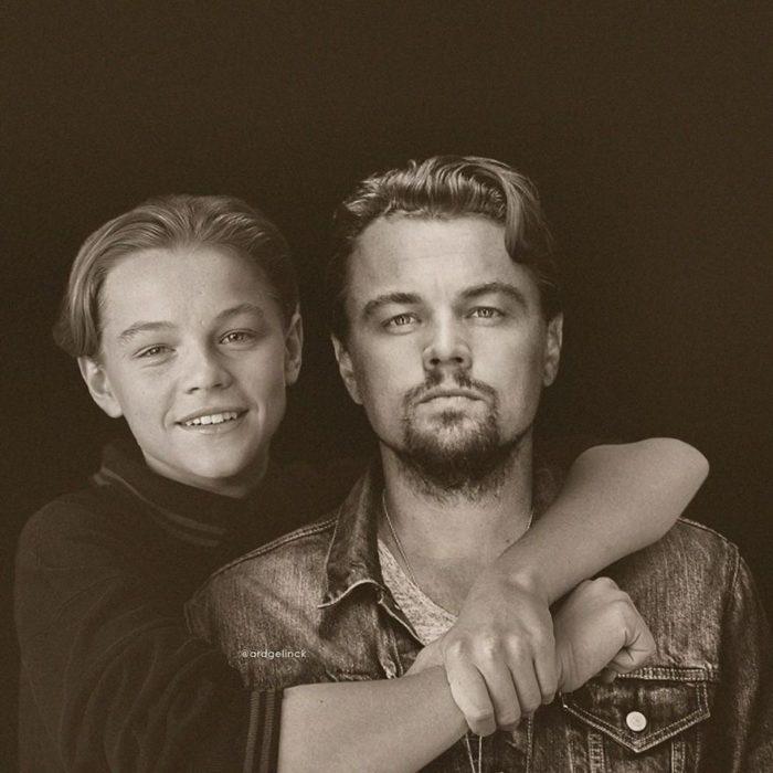 Leonardo DiCaprio de joven y adulto por Ard Gelinck