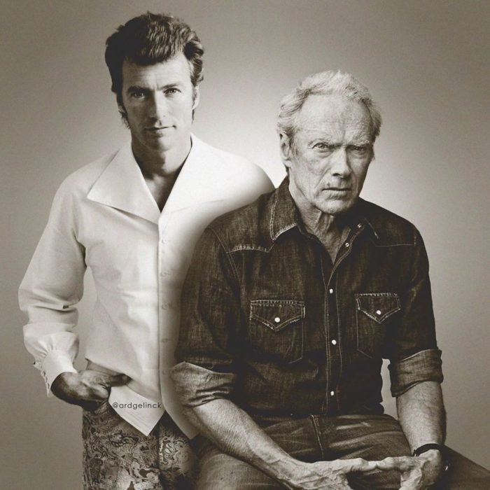 Clint Eastwood de joven y adulto por Ard Gelinck