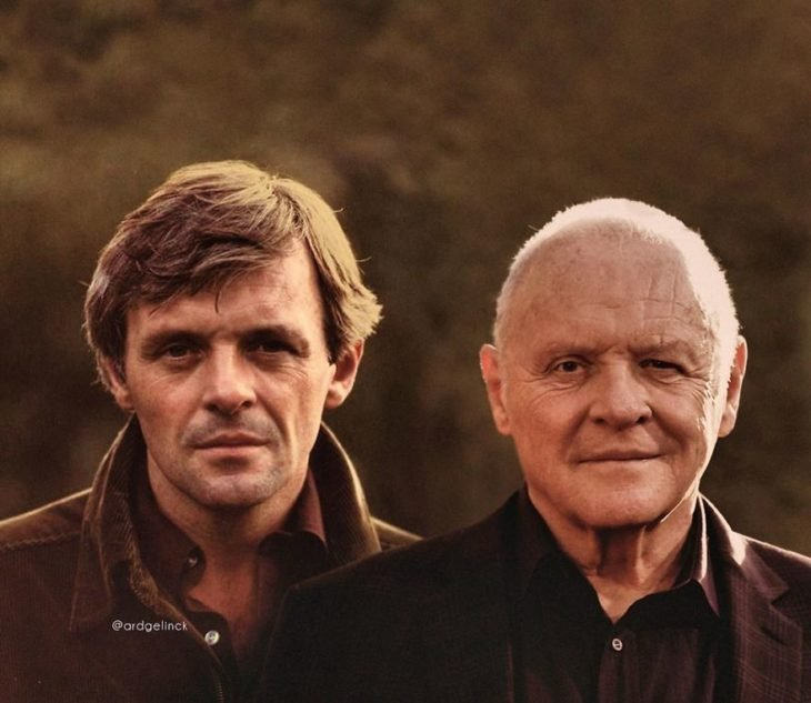 Anthony Hopkins de joven y adulto por Ard Gelinck