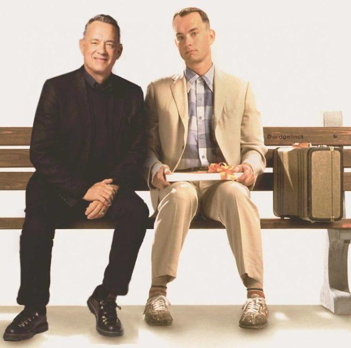 Tom Hanks de joven y adulto por Ard Gelinck