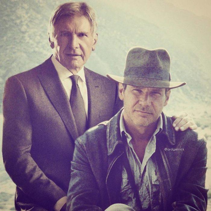 Harrison Ford de joven y adulto por Ard Gelinck