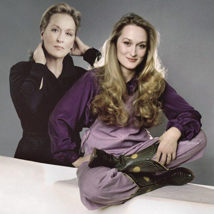 Meryl Streep de joven y adulto por Ard Gelinck