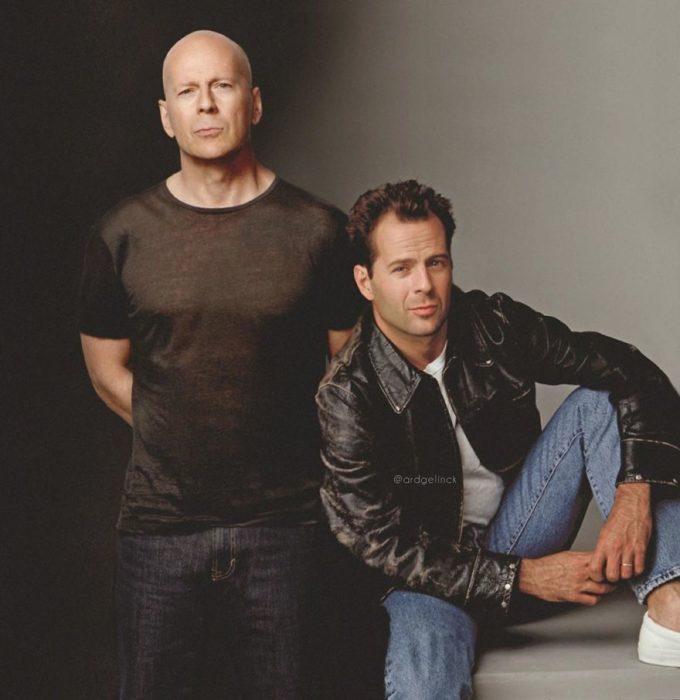 Bruce Willis de joven y adulto por Ard Gelinck