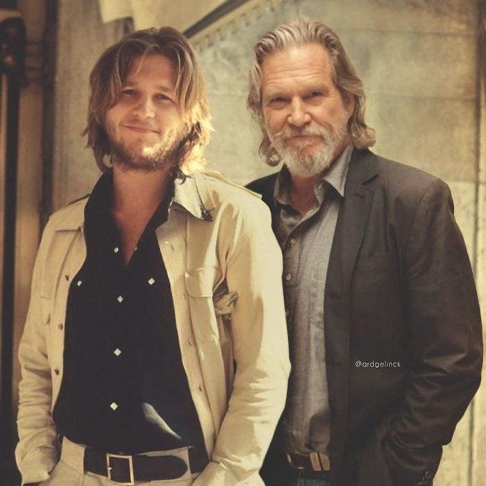 Jeff Bridges de joven y adulto por Ard Gelinck