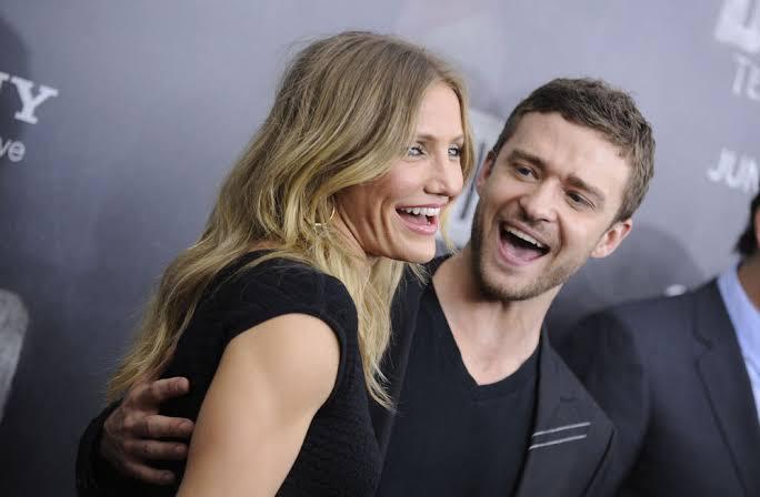 Cameron Diaz y Justin Timberlake en la premiere de Bad Teacher