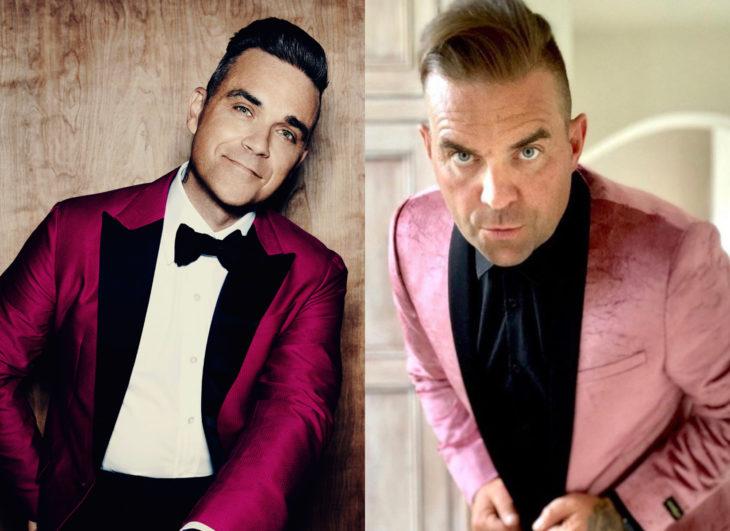 Famosos y sus doppelgängers; Robbie Williams