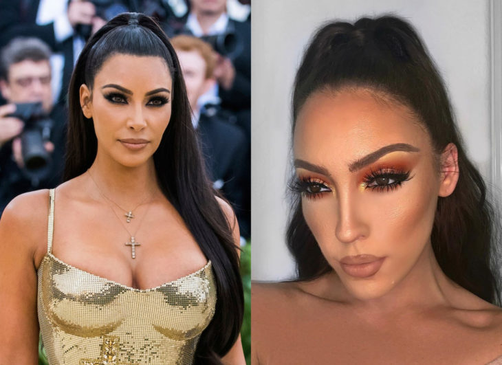 Famosos y sus doppelgängers; Kim Kardashian