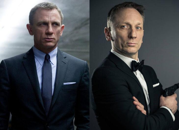 Famosos y sus doppelgängers; Daniel Craig como James Bond