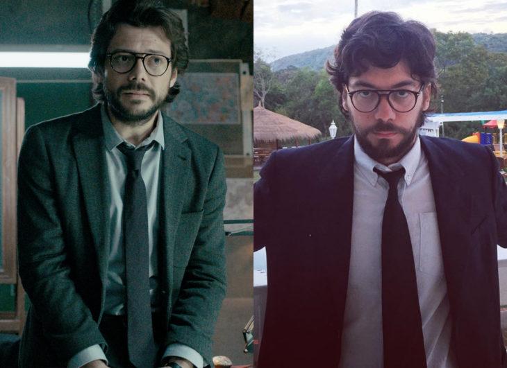 Famosos y sus doppelgängers; El Profesor de La casa de papel