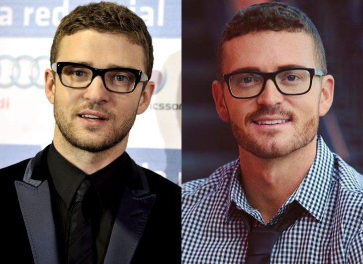 Famosos y sus doppelgängers; Justin Timberlake
