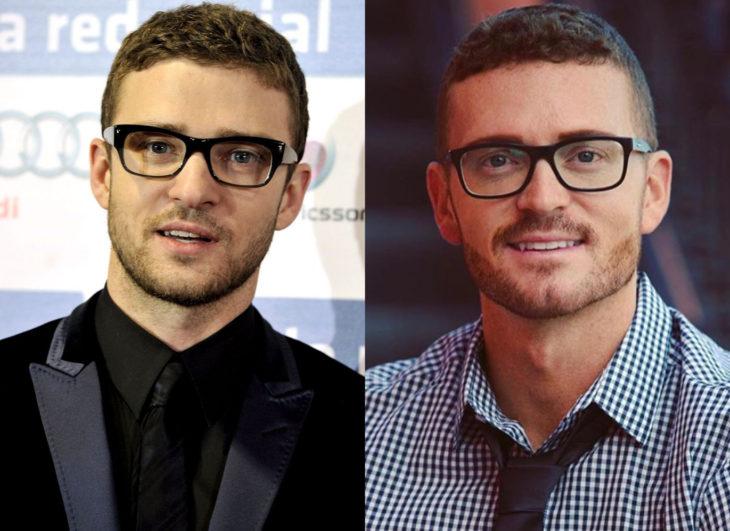 Famosos y sus doppelgängers; Justin Timberlake