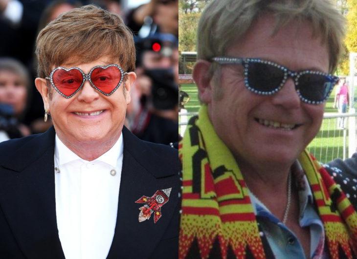 Famosos y sus doppelgängers; Elton John