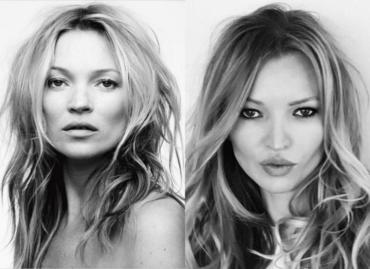 Famosos y sus doppelgängers; Kate Moss