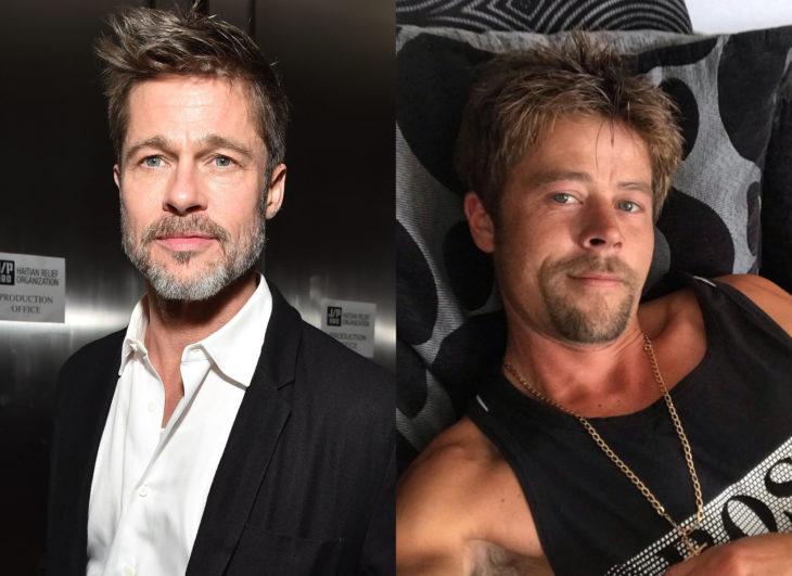 Famosos y sus doppelgängers; Brad Pitt