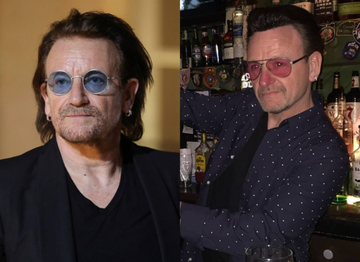 Famosos y sus doppelgängers; Bono de U2