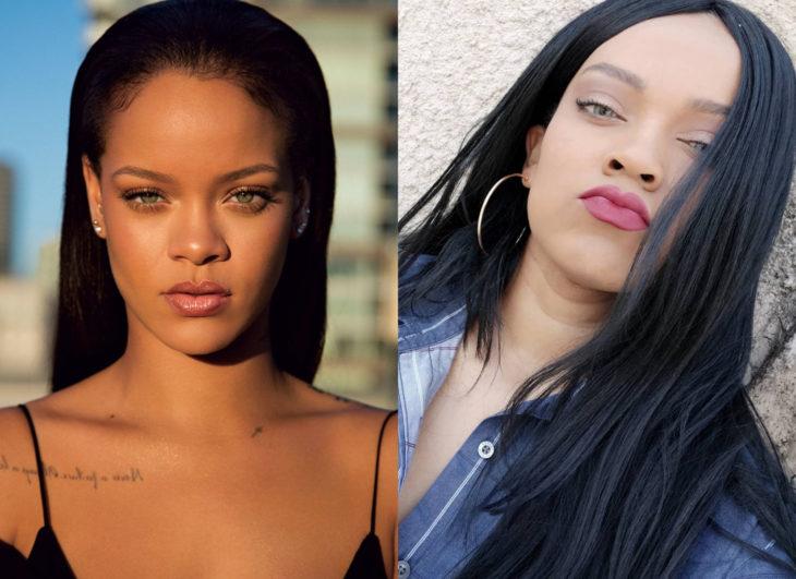 Famosos y sus doppelgängers; Rihanna