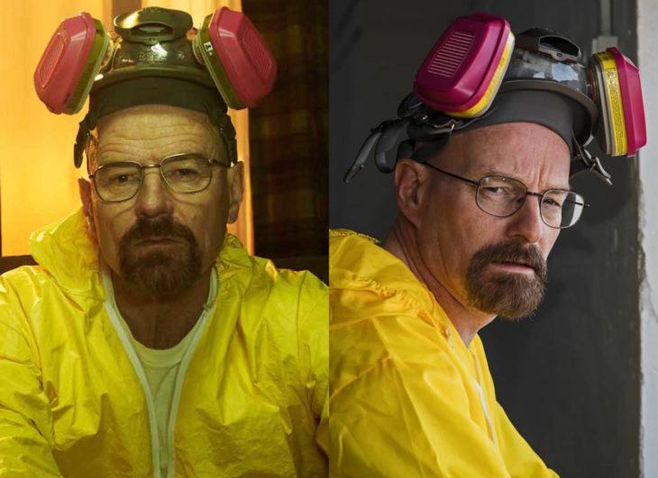 Famosos y sus doppelgängers; Walter White como Heisenberg en Breaking Bad