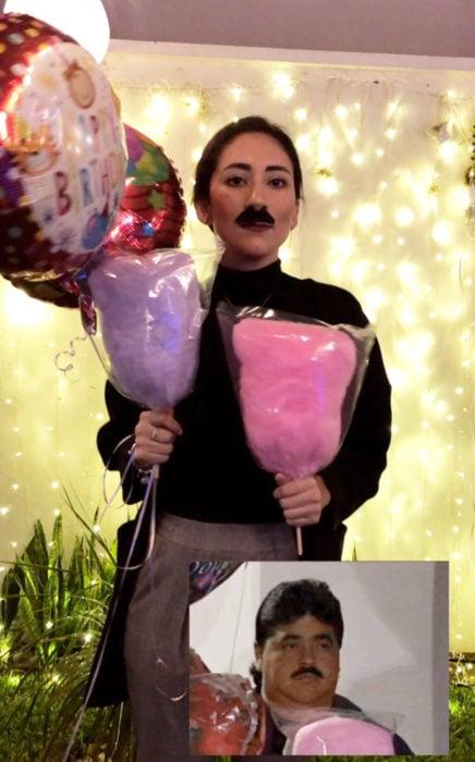 Chica celebra fiesta de cumpleaños con temática de memes y stickers; qué haces aquí