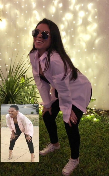 Chica celebra fiesta de cumpleaños con temática de memes y stickers