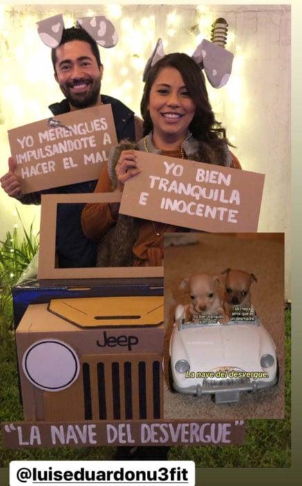 Chica celebra fiesta de cumpleaños con temática de memes y stickers; la nave de perritos chihuahueños